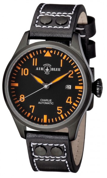Air Blue Charlie Automatic PVD Black-Orange 44mm