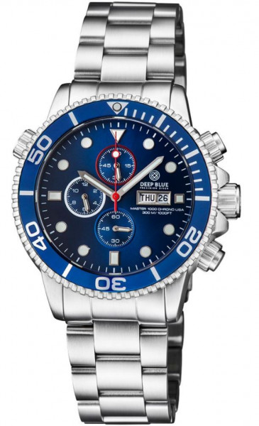 Deep Blue Master 1000 Chrono Blue USA Steel