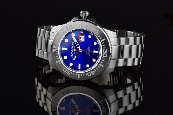 ARAGON Divemaster III Blue Automatic 45mm Steel
