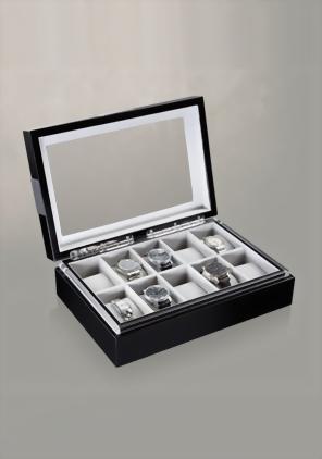 Heisse & Söhne Uhrensammlerbox 10 Black