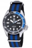 Deep Blue Nato Diver 300 Automatic Black-Blue