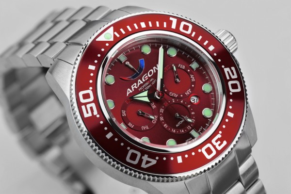 ARAGON Divemaster 9100 Automatic 50mm Red