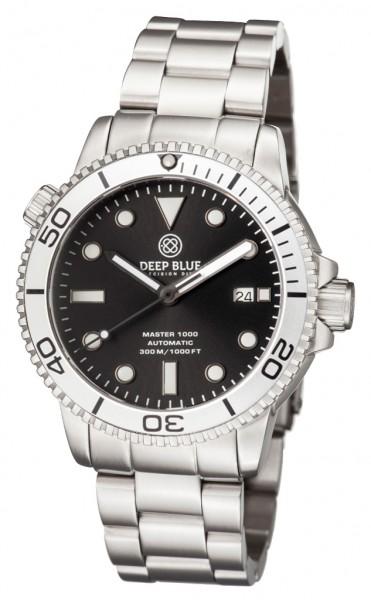 Deep Blue Master 1000 Black-Silver Steel