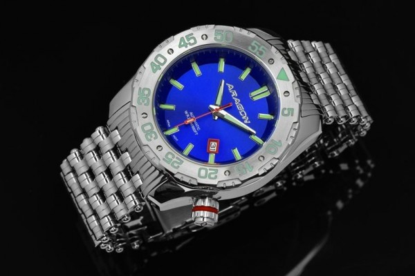 ARAGON Sea Charger Automatic 50mm Blue