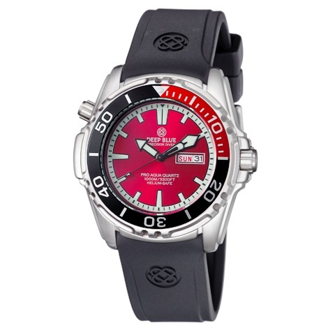 Deep Blue Pro Aqua 1000m Quartz Black-Red