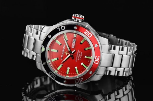 ARAGON Superjet 44mm Red 500m Automatic