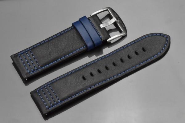 ARAGON Lederarmband 26mm Black-Blue SL