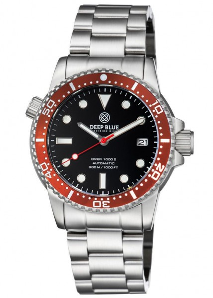Deep Blue Diver 1000 II Black-Red-Red Glossy Steel