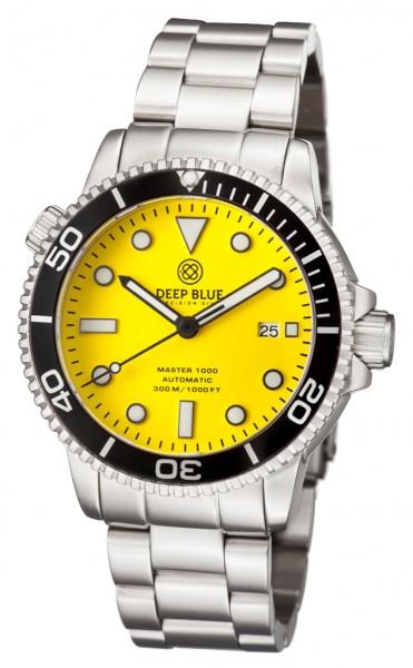 Deep Blue Master 1000 Yellow-Black Steel