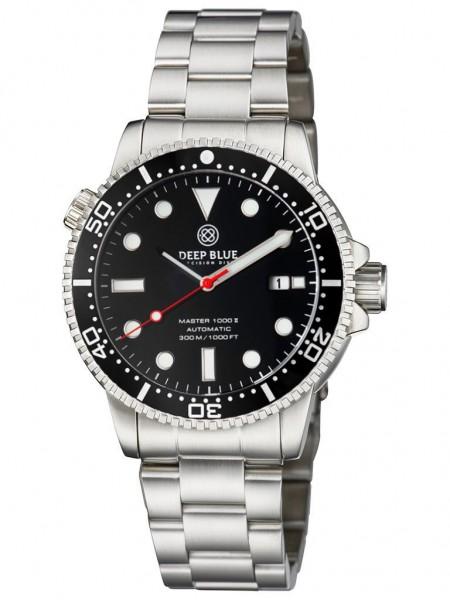 Deep Blue Diver 1000 II Black-Black-Red Glossy Steel