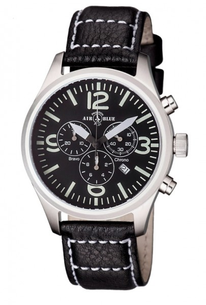Air Blue Bravo Chrono Black 44mm
