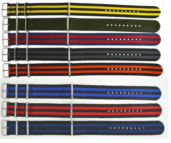 Deep Blue Nato Nylon Armband 22mm