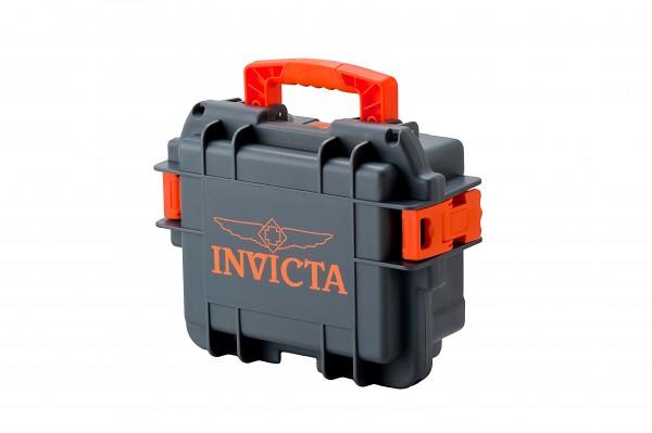 Invicta Stoßfester Uhrenkoffer Grau-Orange 3