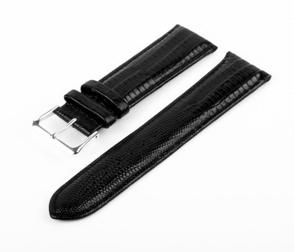 Uhren Lederarmban Schwarz MM13 Croco