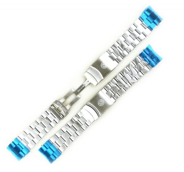 Deep Blue Sea Ram / Juggernaut III Edelstahl-Armband 24mm