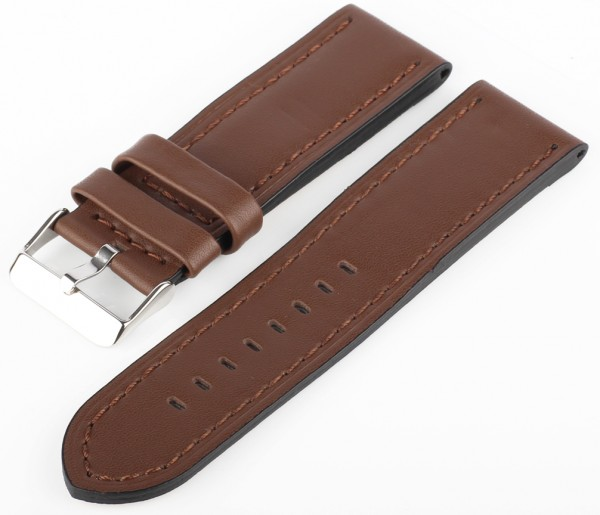 Uhren Lederarmband Braun XXL MX18 Glattleder