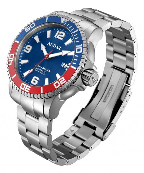 Audaz Ocean Rider Blue-Red 45mm Automatic