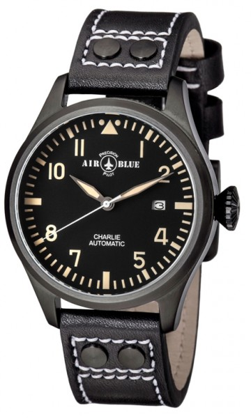Air Blue Charlie Automatic PVD Black-Tan 44mm