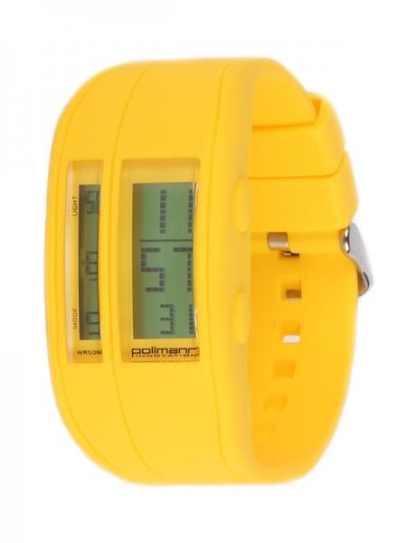 Pollmann Sportwatch Chrono Gelb Armbanduhr