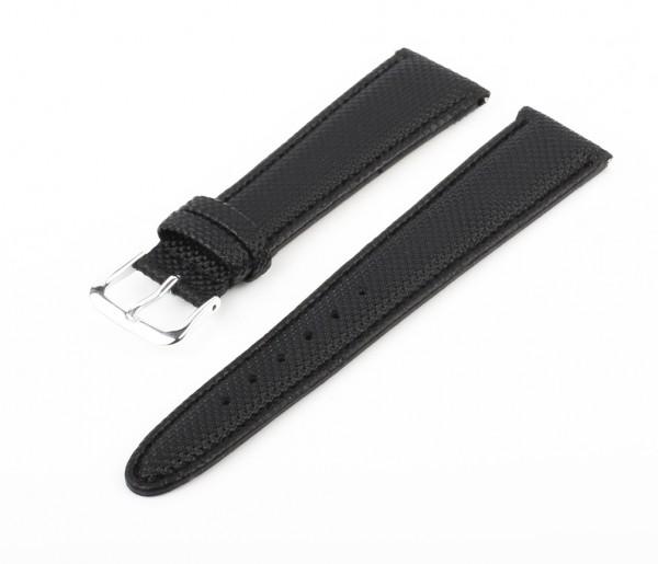 Uhren Lederarmband Schwarz Elegance EM20
