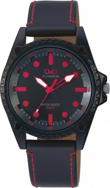 Q&Q Aluminum AL08J502Y Unisex Rot Armbanduhr