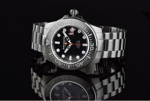 ARAGON Divemaster III Black Automatic 45mm Steel