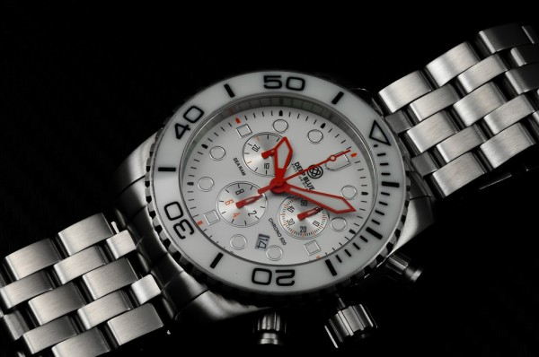 Deep Blue Sea Ram Chronograph 500m White-Black-Orange